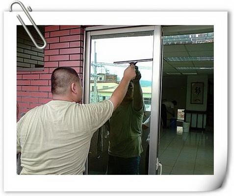 清潔工作擦窗實況